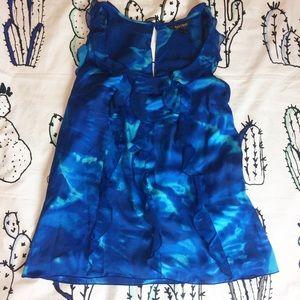 White House black market blue blouse